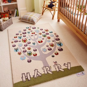 Whooo's There   Axminster Personalised Rugs