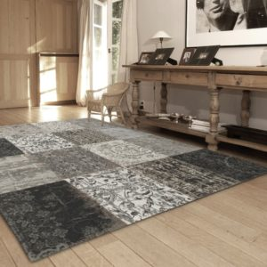8101 Black and White | Louis de Poortere Rugs | Best at Flooring