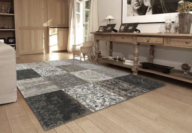 8101 Black and White | Louis de Poortere Rugs | Best at Flooring