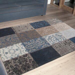 8108 Blue Denim | Louis de Poortere Vintage Collection Rugs | Best at Flooring