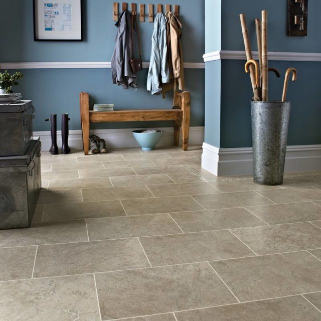 Portland Stone - Knight Tile | Room View
