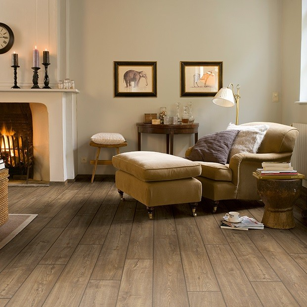 Quick Step Laminate | Impressive | Scraped Oak Grey Brown IM1850