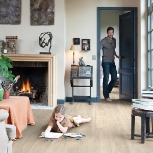 Saw Cut Oak Beige IM 1857 | Quick-Step Laminate
