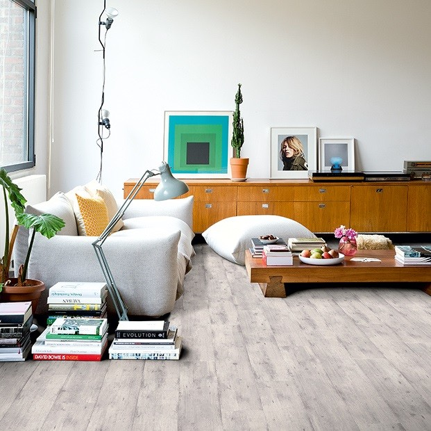 Quick Step Laminate | Impressive | Concrete Wood Light Grey IM1861