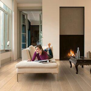 White Varnished Oak Planks LPU 1283   Quick-Step Laminate