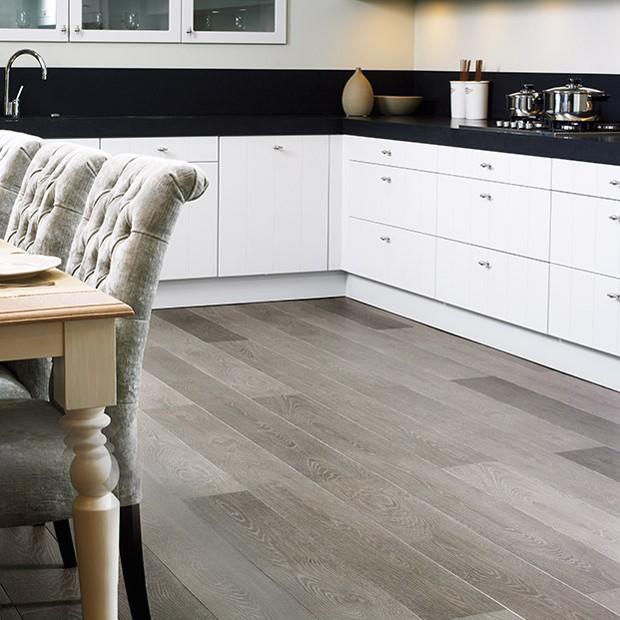 Kitchen Finks: Grey Vintage Oak Planks LPU3986 Laminate Flooring