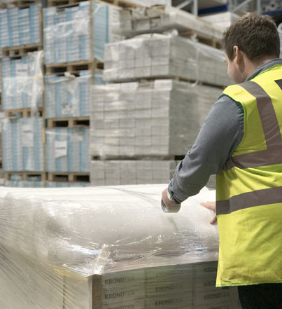 Best at Flooring | About Us | warehouse pallet wrapped