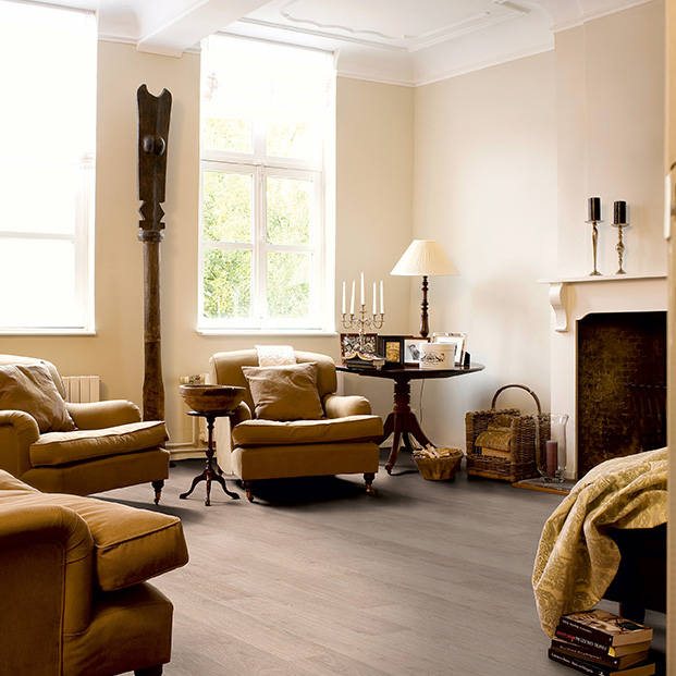 Quick Step Laminate | Classic | Bleached White Oak CLM1291