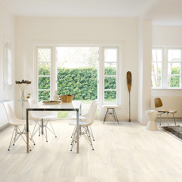 Quick Step Laminate | Creo | Charlotte Oak White CR3178