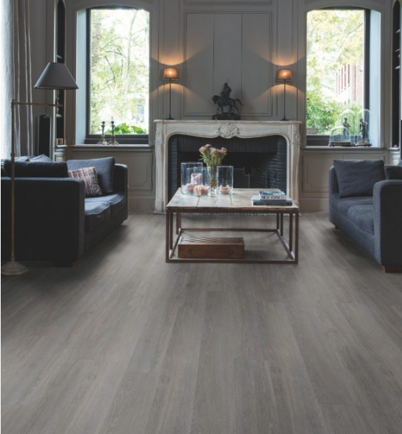 Quick Step livyn | Balance click Plus | Silk Oak Dark Grey BACP40060
