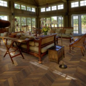 Chevron Dark Brown R | Kahrs Engineered Wood