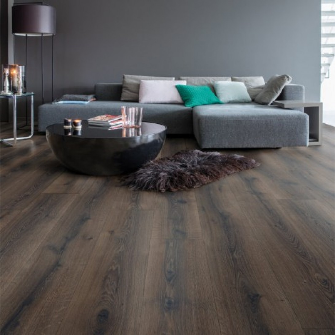 desert oak brushed dark brown mj3553 quick step laminate. Black Bedroom Furniture Sets. Home Design Ideas