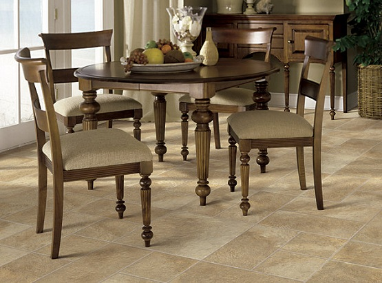 Etonnant Laminate Flooring That Looks Like Tile For Dining