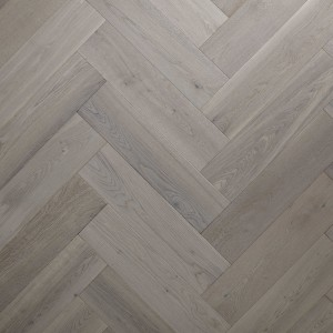 Grey Brushed UV Oiled Herringbone