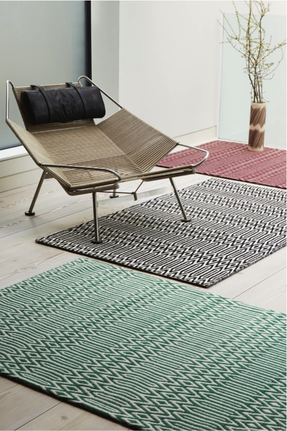 Bold Geometric Rugs with Laminate Flooring