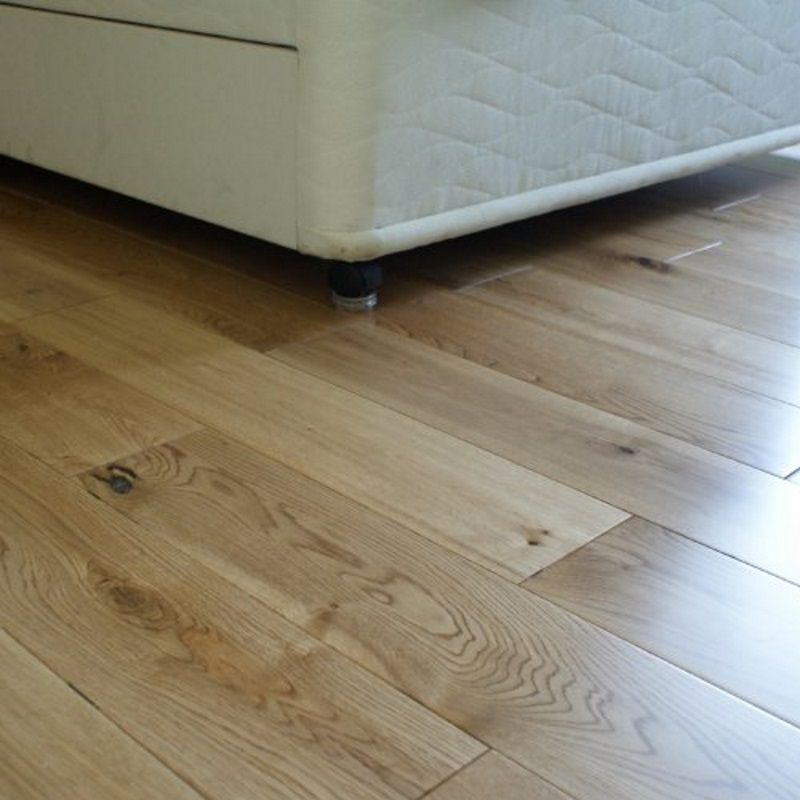 120mm Lacquered Oak Solid