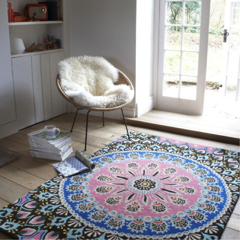 Use large rugs.
