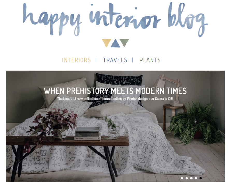 happy interior Blog website homepage