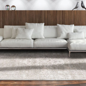White Pepper 8382 | Louis de Poortere Fading World Medallion Rug | BestatFlooring