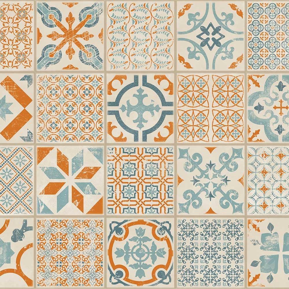 Starfloor Retro Orange Amp Blue Tarkett Starfloor Luxury