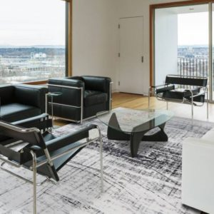 8926 Metro Black & White | Louis de Poortere Mad Men Griff Rugs | Best at Flooring