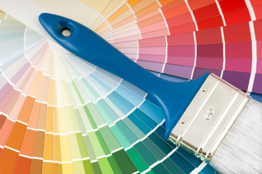 a colour wheel for decorating the home