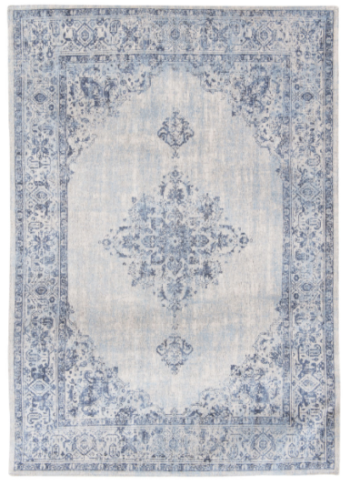 Blue Border 8670 rug by Louis de Poortere from the Khayma Fairfield