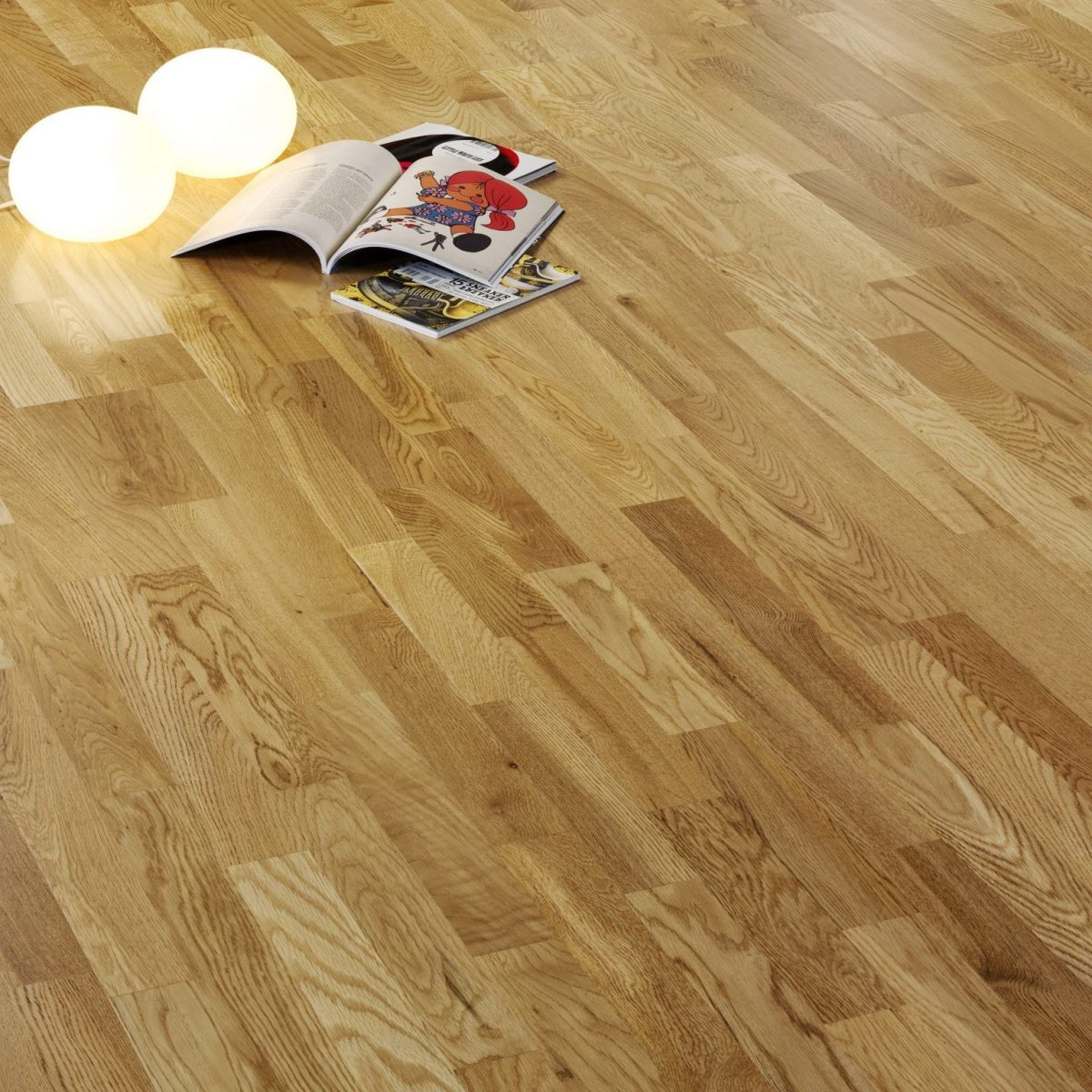 Oak Three Strip Lacquered A305 V4 Wood Flooring Alpine