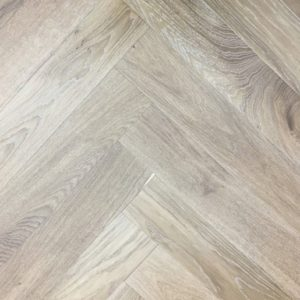 Herringbone Light Smoked Oak | Elka 14mm Engineered Wood | Best at Flooring