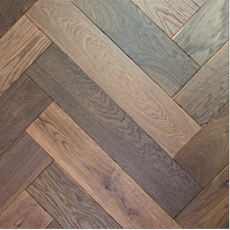 Herringbone Dark Smoked Oak Elka Engineered Wood Best At Flooring