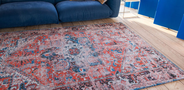 Classic Brick 8703   Louis de Poortere Antiquarian Heriz Rugs   Best at Flooring