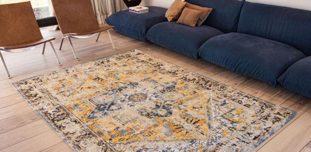 Amir Gold 8704 | Louis de Poortere Antiquarian Heriz Rugs | Best at Flooring