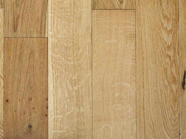 150mm Natural Brushed & Lacquered Oak