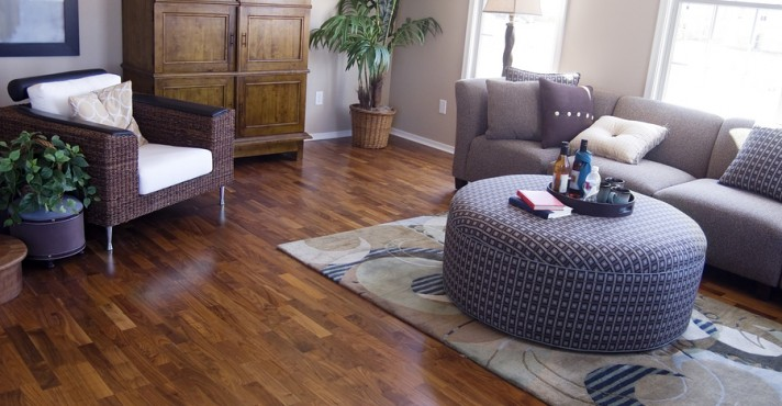 Bright modern interior Design with hard wood flooring