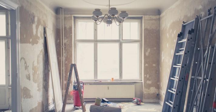 home renovation - old flat during renovation - vintage filter