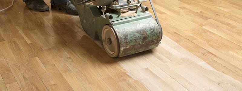 Wood flooring being sanded