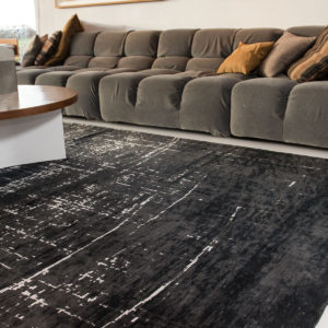 8655 White on Black | Louis de Poortere Mad Men Griff Rugs | Best at Flooring