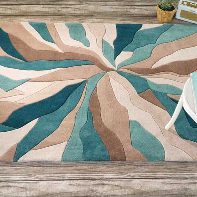Infinite Splinter Teal Flair Rugs Best At Flooring