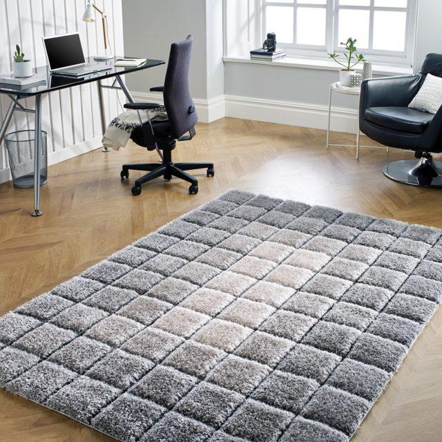 Velvet 3D -Cube Grey