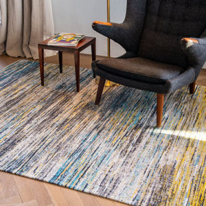 Blue Yellow Mix 8873 | Louis de Poortere Sari Rug | BestatFlooring