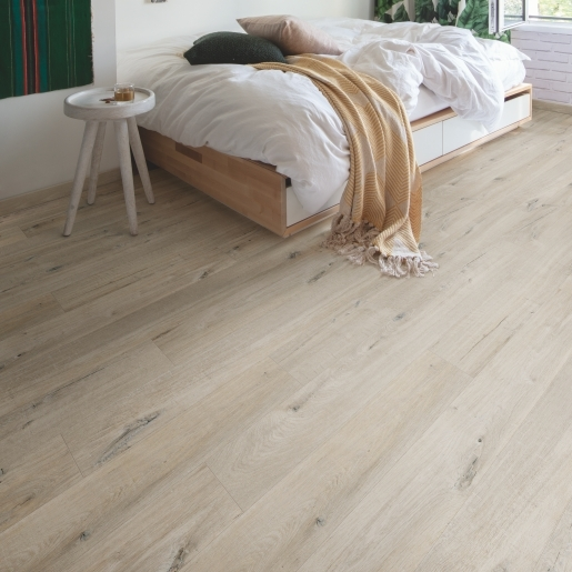 Quick-Step Alpha Cotton Oak White Blush AVMP40200 | Best at Flooring
