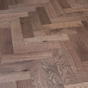 Dark Stain Matt Lacquered Herringbone Engineered Wood | BestatFlooring