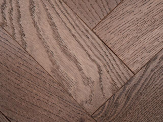 Dark Stain Matt Lacquered Herringbone Engineered Wood | BestatFlooring