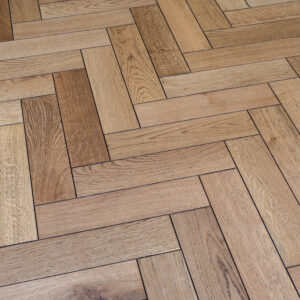Burnt Edged Matt Lacquered Herringbone Engineered Wood | BestatFlooring