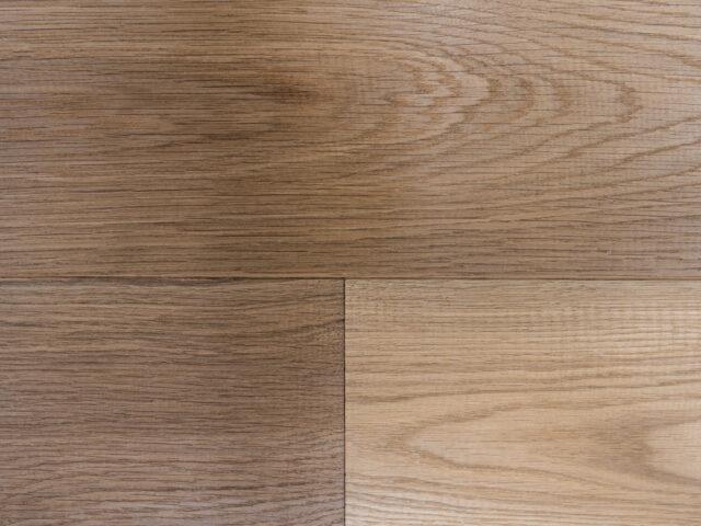 Medium Stained, Handscraped, Brushed & UV Oiled Oak | Close Up