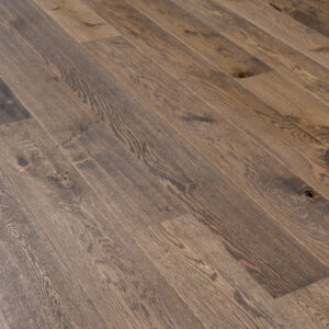 Dark Stained, Handscraped, Brushed & UV Oiled Oak