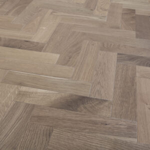 Light Smoked & Oiled Herringbone | Engineered Wood | Best at Flooring