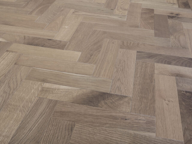 Light Smoked & Oiled Herringbone | Engineered Wood | Best at Flooring
