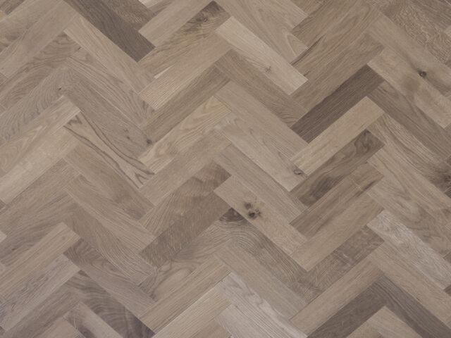 Light Smoked & Oiled Herringbone | Engineered Wood | Top View