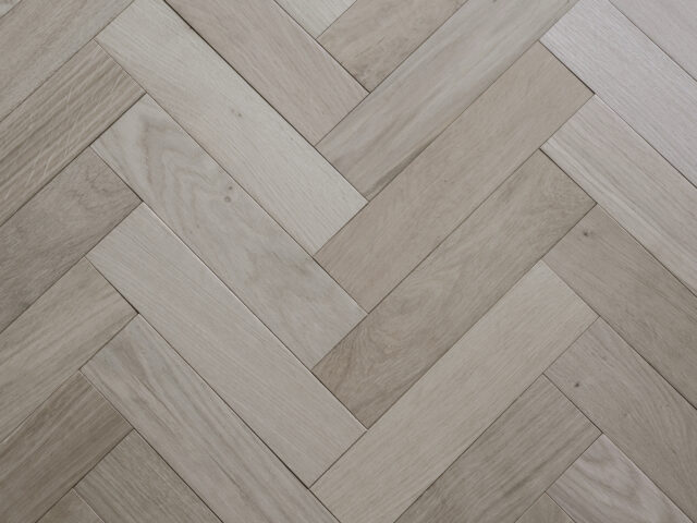 Unfinished Herringbone | Engineered Wood | Top View